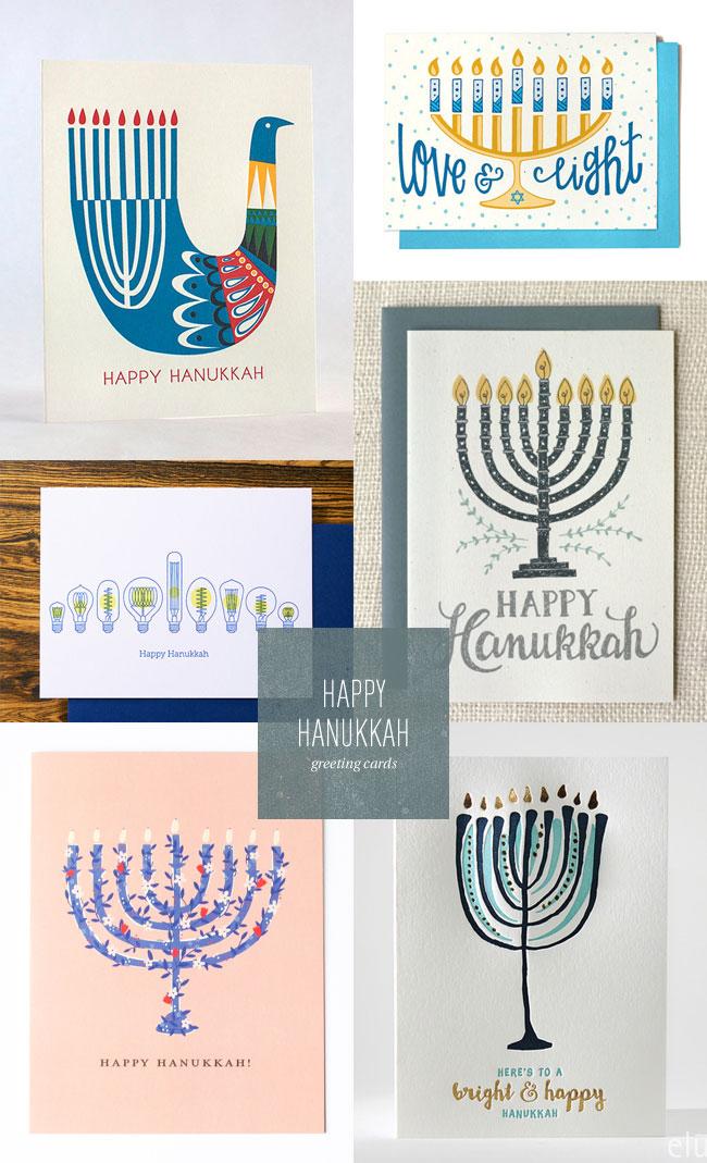 Happy Hanukkah Menorah Cards