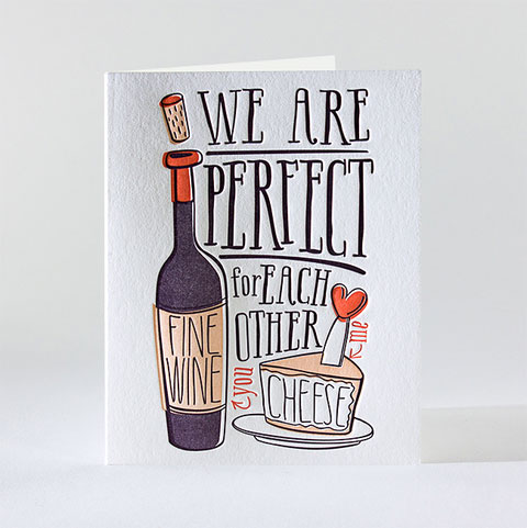 Wine & Cheese Letterpress Card | elum