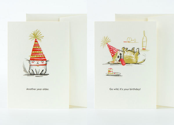 Illustrated Birthday Cards by Paula Bowles for Card Nest