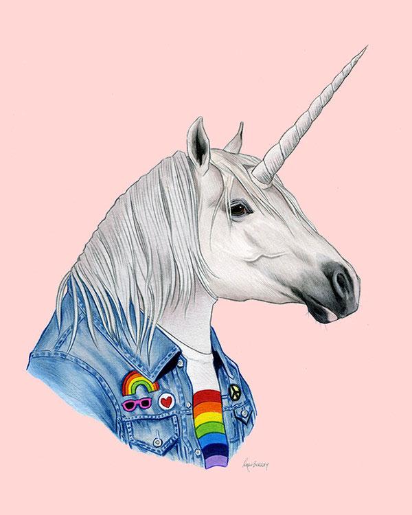 Unicorn Art Print from Ryan Berkley Illustration