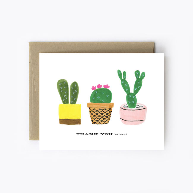 Cacti Card from The Detroit Card Co.