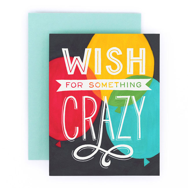 Wish for Something Crazy Card from Home Again Creative