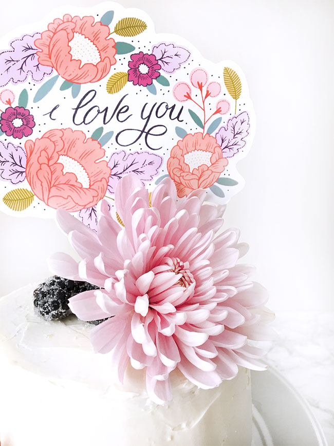 DIY Printable Mother's Day Cake Topper