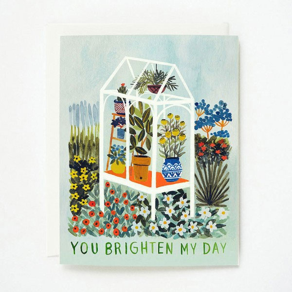 You Brighten My Day Card by Quill & Fox