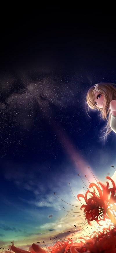 af50-anime-girl-in-space-sky-wallpaper