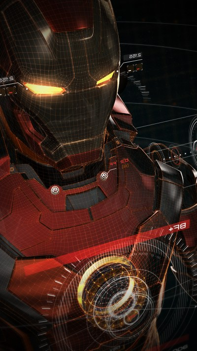 PAPERS.co | iPhone wallpaper | aq06-ironman-3d-red-game-avengers-art-illustration-hero-vignette