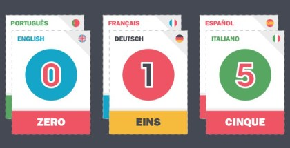 numbers 1-20 in modern languages free printable