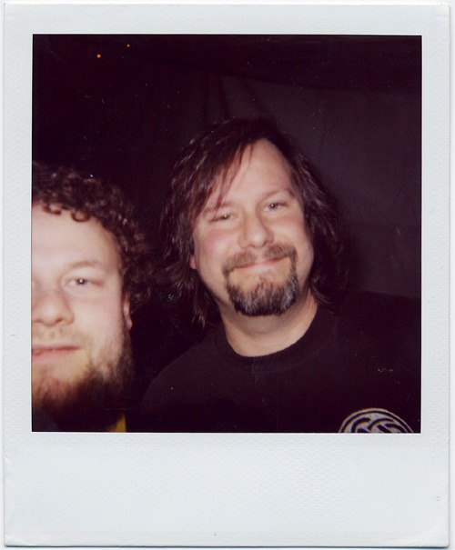 Me and Billy Gould from Faith No More (Photo: Morten Skogly)