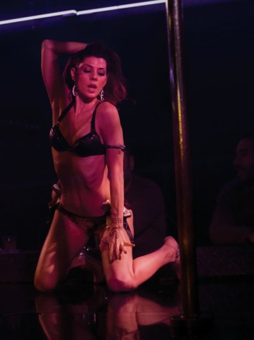 Marisa Tomei as a stripper in The Wrestler