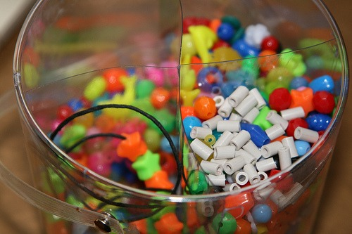 DIY: Homemade beads made from electrical wires