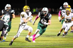 Kevin O'Hanlon for CB West carrying the ball during their game against the Rams Friday night at Pennridge. Jeff Davis/Digital First Media