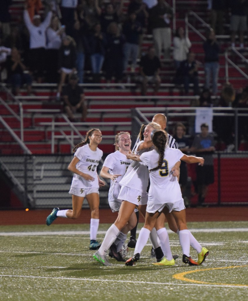 Spring-Ford topped Owen J. Roberts 2-0 to win the PAC Girls Soccer Championship Thursday. (Austin Hertzog - Digital First Media)