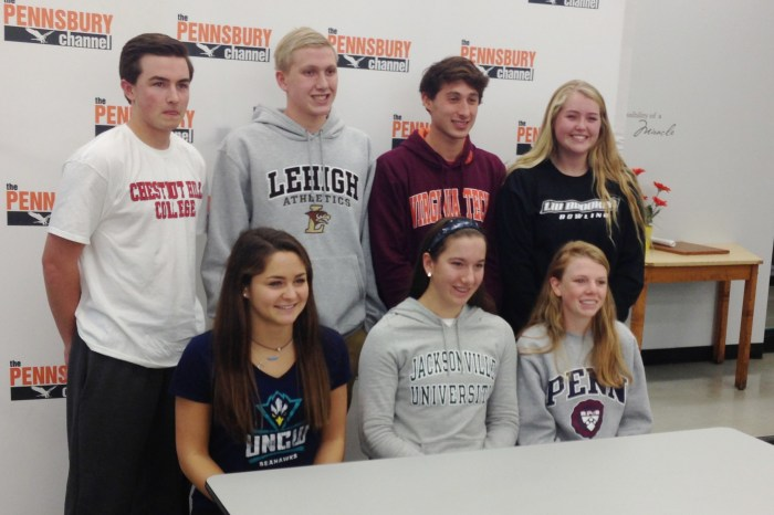 Seven student-athletes from Pennsbury commit to college sports (VIDEO)