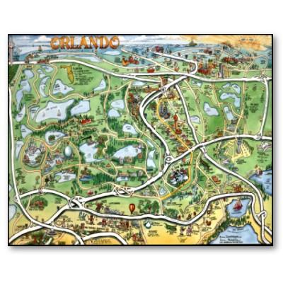 Mapa Callejero De Orlando Direccion De Los Parques ...