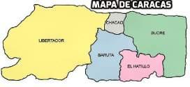 Mapa de Caracas con nombres de calles y avenidas