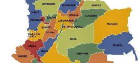 Mapa de Colombia con sus limites