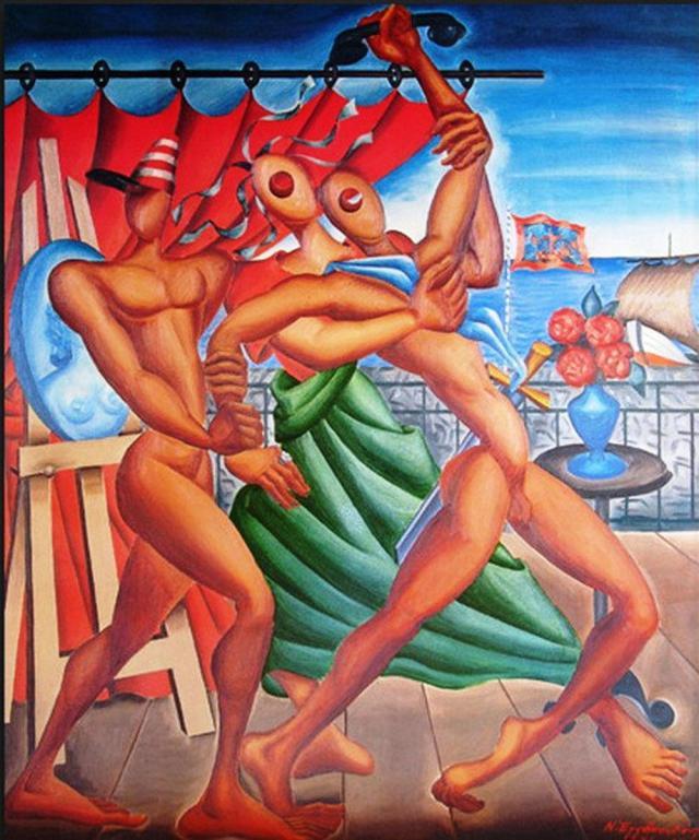 Ο ελευθερωτής-πίνακας Εγγονόπουλου 1940