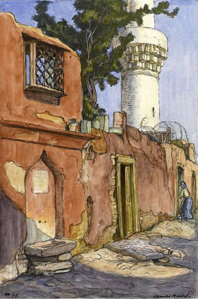 Charles Martel 1919. Η βρύση της οδού Κασσιανής δυτικά του τζαμιού Σουλούκα (Όσιος Δαβίδ).