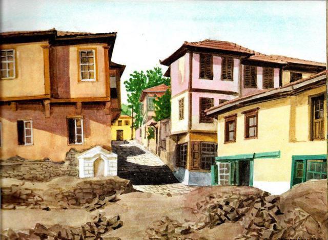 Βρύση στην Αθηνάς με Ιουλιανού. Γεώργιος Μανουσάκης 1966.