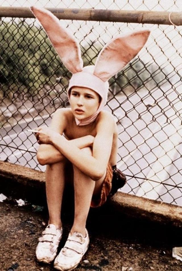 Alber Elbaz wearing bunny ears by Shona Heath