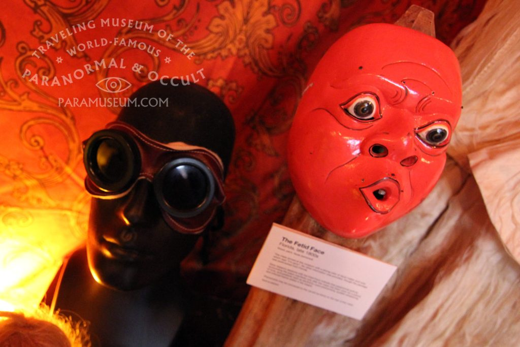 What will you see when you wear a pair of vintage Aura Goggles or the Fetid Face?