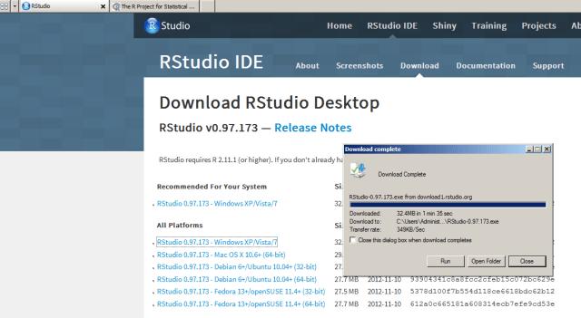 install R studio for windows desktop