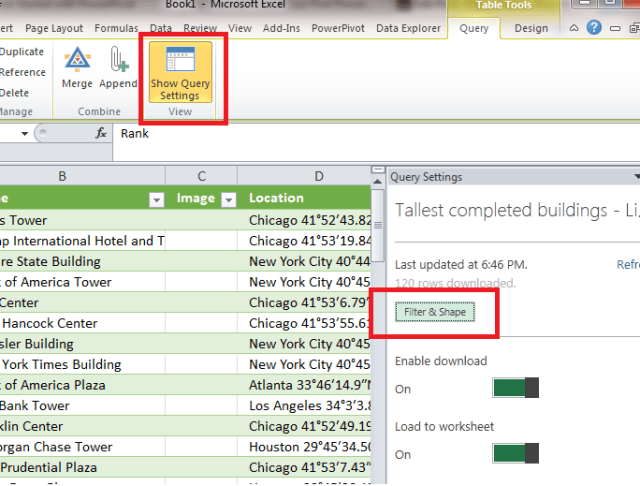 excel data shaping cleaning