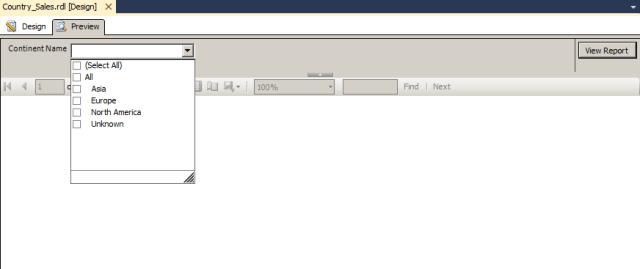 parameter in sql server reporting ssas