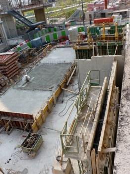Dalle coulée du niveau rez-de-chaussée des duplex A12 et A13