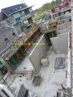 3 murs extérieurs des 2 duplex sur 4.