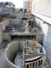 Le chantier d'Est en Ouest... encore quelques jours avant que la vue ne soit bouchée :-)