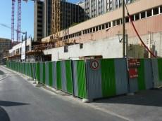 Vue du chantier d'Est en Ouest