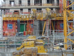 Parc 17, bâtiments A, murs des appartements du 9° étage et bâtiment B, dalle du 9° étage, 15 novembre 2014