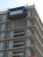 Lift du bâtiment A prolongé jusqu'au 11° étage