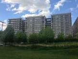 Parc 17 depuis le centre Parc Martin Luther King, espace été