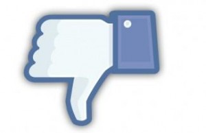 facebook dislike thumb