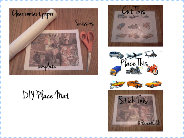 DIY placemat for kids
