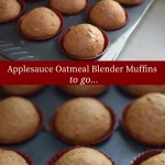 Applesauce Oatmeal Blender Muffins breakfast to go