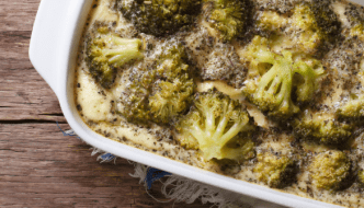 Broccoli Casserole with Toasted Almonds