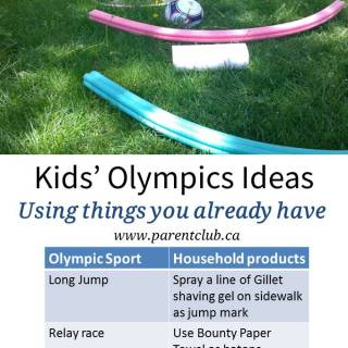 Kids' Olympics Ideas using things you already have