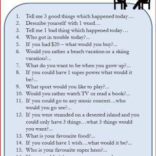 Conversation Starters with your kids via www.parentclub.ca