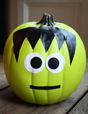 7 Easy No Carve Pumpkin Decorating Ideas   Parenting Special Needs     Duct tape Frankenstein