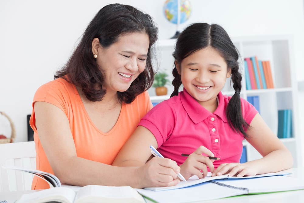 stress free psle exams mother