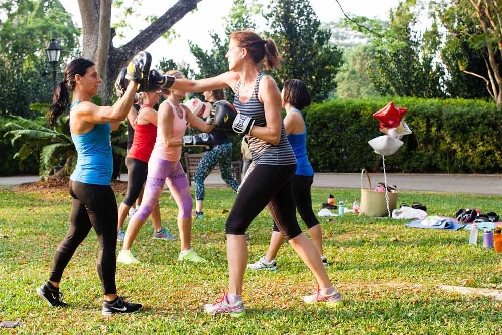 pre and post natal workouts women boxing
