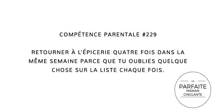 COMPTENCE 229 ÉPICERIE