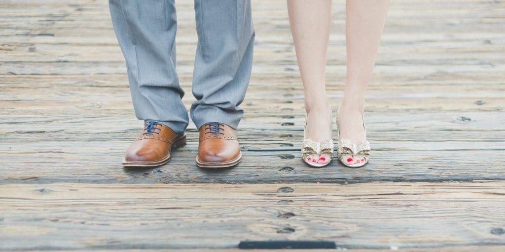 homme femme pieds