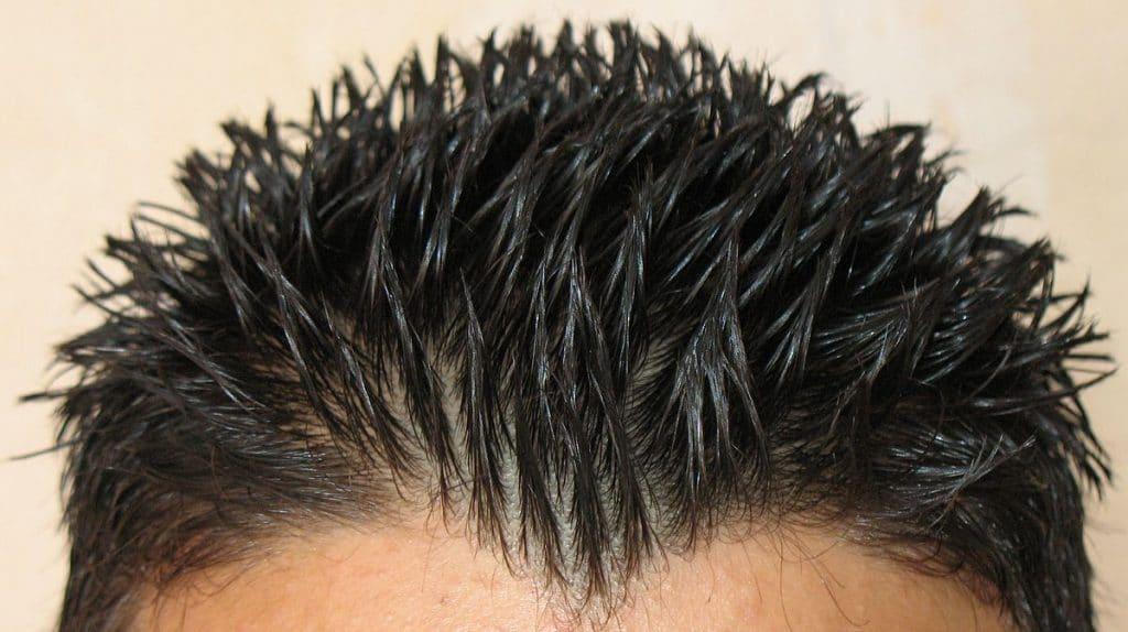 garçon gel cheveux