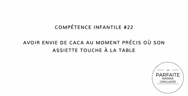COMPETENCE INFANTILE 22 ENVIE DE CACA