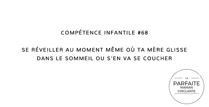 COMPETENCE INFANTILE 68 SOMMEIL