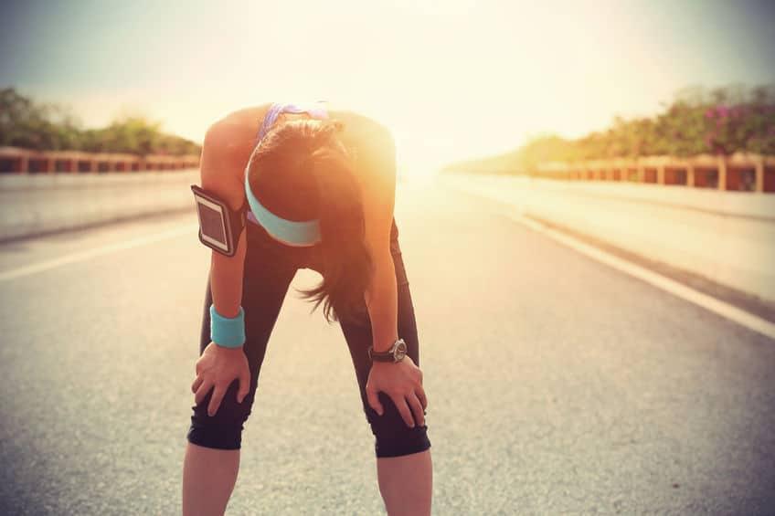 femme sport fatigue